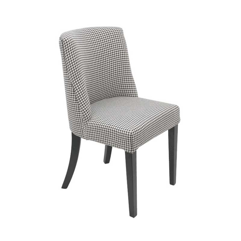 Ophelia Dining Chair Houndstooth Designer Silver