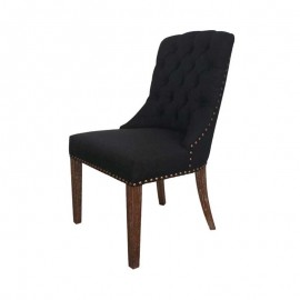 PHILIPPE DINING CHAIR MID-NIGHT BLACK STUD ELEMENT HI LIGHT