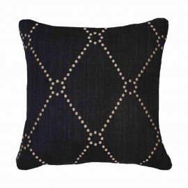 DOT DIAMOND BLACK MEDIUM CUSHION