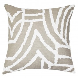 EARTH FILES PRINT WHITE LOUNGE CUSHION