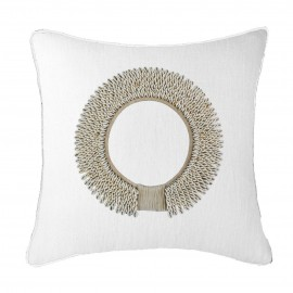SHELL RING WHITE LOUNGE CUSHION