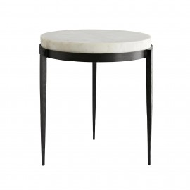 KELSIE ACCENT TABLE - WHITE MARBLE