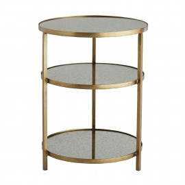 PERCY END TABLE BRASS