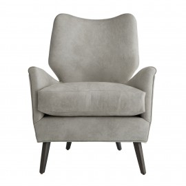 BECK CHAIR LEATHER GRAY ASH