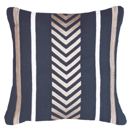 ARROW STRIPE NAVY LOUNGE CUSHION