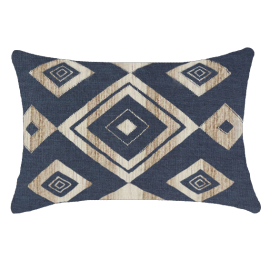 SHOOWA DIAMOND NAVY LUMBER CUSHION