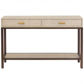 BOYD BLUE CLIFTON CONSOLE PUMICE 2 DRAWER