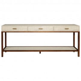 BOYD BLUE CLIFTON CONSOLE PUMICE 3 DRAWER