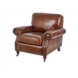 BALMORAL VINTAGE LEATHER CHESTNUT ARM CHAIR