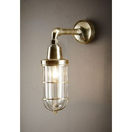 PORT WALL LAMP ANTIQUE BRASS
