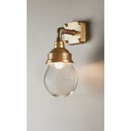 DOME WALL LAMP ANTIQUE BRASS