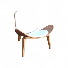 SHELL CHAIR - LEATHER REPLICA