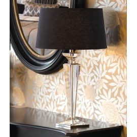 ELEGANCE TABLE LAMP - BLACK LINEN
