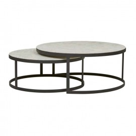 MARY FLAT METAL NEST COFFEE TABLES