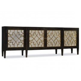 SANCTUARY FOUR DOOR MIRRORED CONSOLE - EBONY