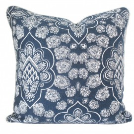 Henna Paisley Denim Cushion