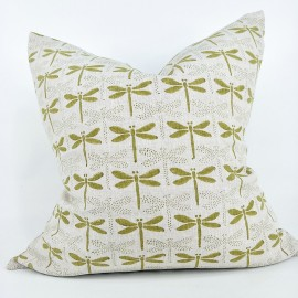 DRAGON FLY LINEN PICKLED GREEN - 50cm