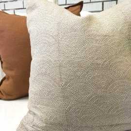 jACQUIE OCHRE LINEN CUSHION