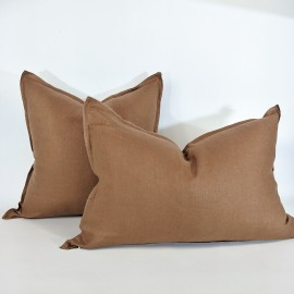 PRUDENCE YELLOW OCHRE LINEN CUSHION