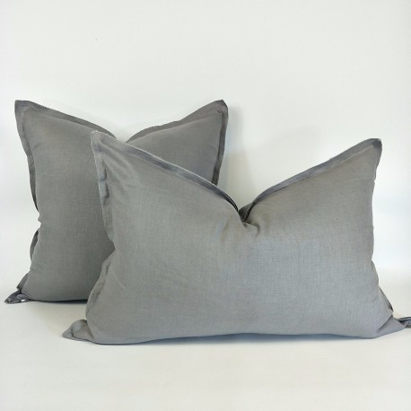 PRUDENCE LINEN CUSHION GREY
