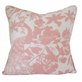 BLUSH PEACOCK CUSHION